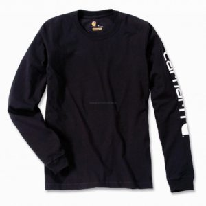 Koszulka Carhartt Logo L/S T-Shirt – Czarny