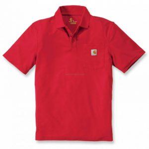 Koszulka Contractor's Work Pocket Polo – czerwona