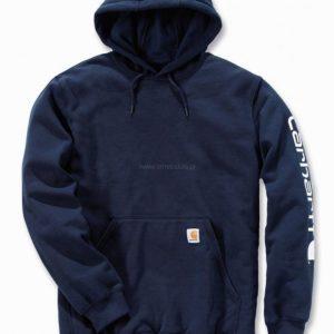 Bluza Carhartt Midweight Signature Sleeve Logo Hooded – Granatowy