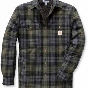 Koszula / Kurtka Carhartt Hubbard Shirt Jac – Krata zielona