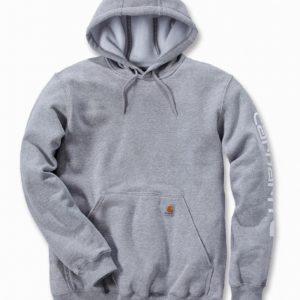 Bluza Carhartt Midweight Signature Sleeve Logo Hooded – Szary Melanż