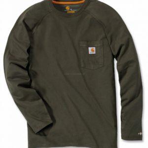 Koszulka Carhartt Force® Cotton Long Sleeve T-shirt – Moss