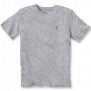 Koszulka Carhartt Maddock Pocket Short Sleeve T-Shirt – szary melanż