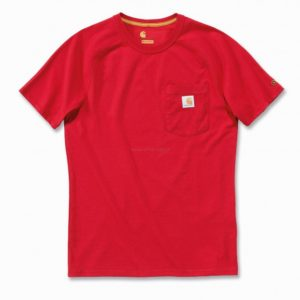 Koszulka Carhartt Force® Cotton Short Sleeve T-Shirt – czerwony