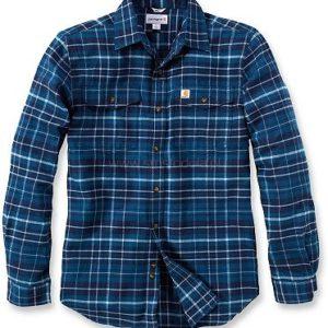 Koszula Carhartt Trumbull Slim Fit Flannel – Stream Blue