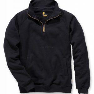 Sweter Carhartt Quarter-Zip Mock-Neck Sweatshirt – czarny