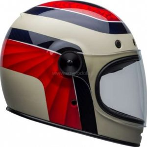 Kask Bell Bullitt Carbon Hustle Red/Sand/Candy Blue