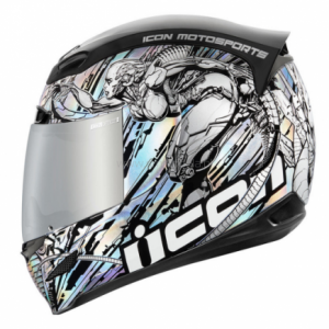 Kask Icon Airmada Mechanica Silver