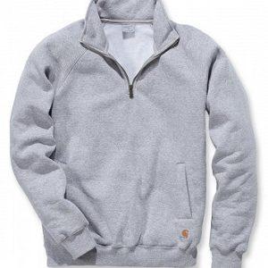 Sweter Carhartt Quarter-Zip Mock-Neck Sweatshirt – szary melanż