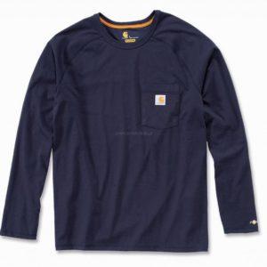 Koszulka Carhartt Force® Cotton Long Sleeve Henley – granatowy