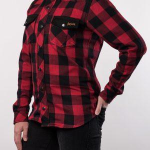 Koszula Motocyklowa Lady Broger Alaska Black/Red