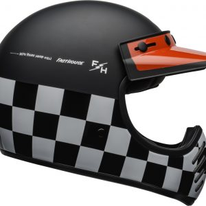 Kask Bell Moto-3 Fasthouse Checkers Black/White/Red