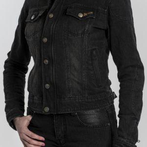 Kurtka Jeansowa Motocyklowa Broger Florida Lady Washed Black